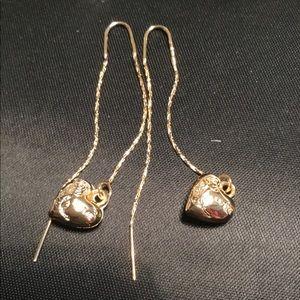 Jewelry - 18k Brazilian Gold plated loop in a hoop Earrings